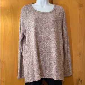 AEO soft & sexy plush marked knit raglan tunic top